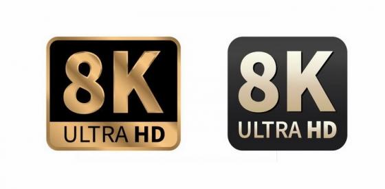 2款8K分辨率超高清视频技术图标png图片免抠矢量素材