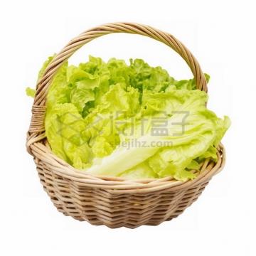 竹篮子里的生菜叶794302png免抠图片素材