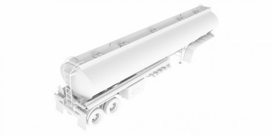 3D立体白色槽罐车油罐车危险品运输卡车特种运输车挂车792791png图片素材