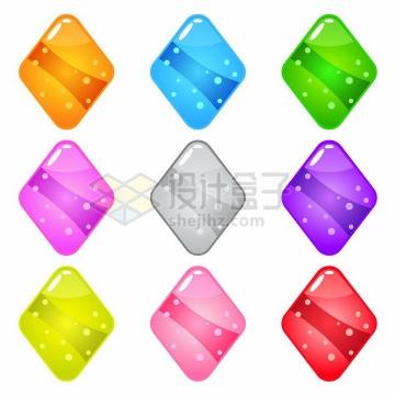 圆润的菱形游戏宝石png图片免抠素材