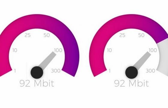 简约渐变色风格汽车速度表仪表盘png图片免抠矢量素材