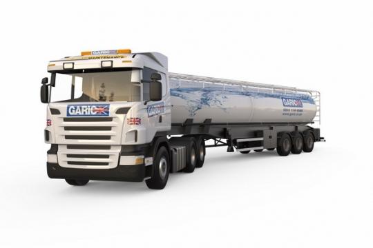 白色槽罐车油罐车危险品运输卡车特种运输车676045png图片素材