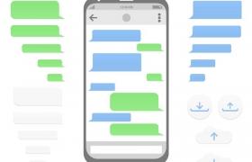 手机聊天软件界面图片免抠矢量图
