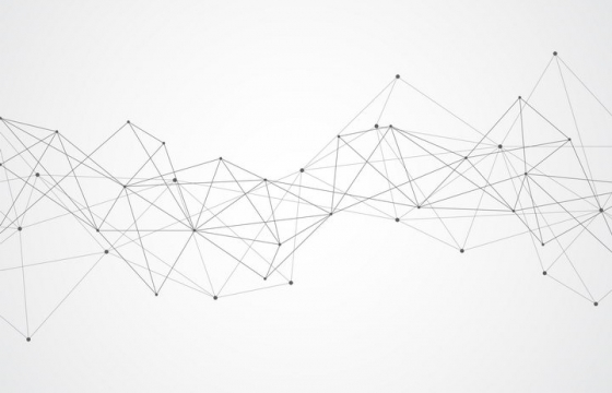 黑色点和直线组成的多边形装饰图片免抠矢量素材