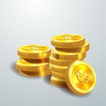 堆放在一起的金币图案图片免抠矢量图