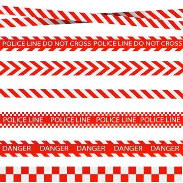 7款红白色条纹警示线图片免抠矢量图