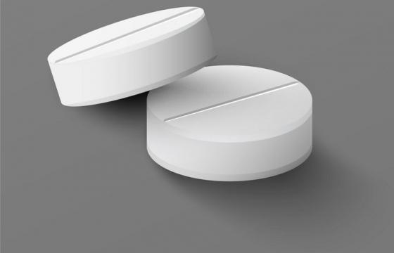两颗白色的药片图片免抠矢量图