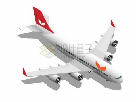 带阴影的大型客机飞机696190png图片素材