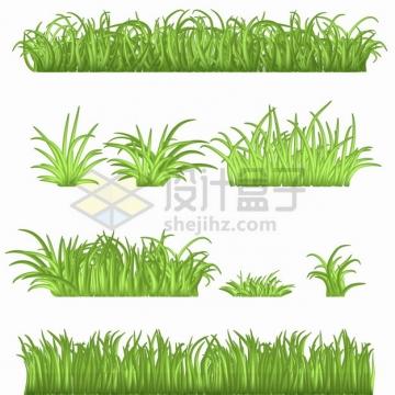 8款绿色青草草坪边框装饰png图片素材