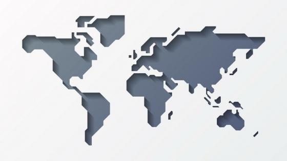 镂空的世界地图形状图案图片免抠矢量素材