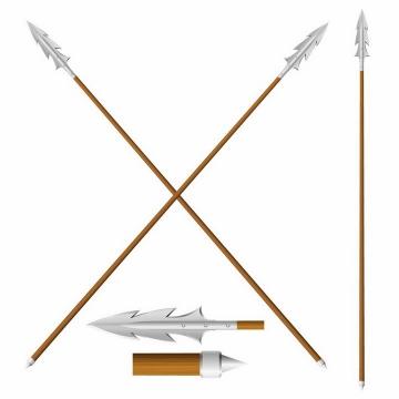 装有金属矛头的长矛冷兵器武器png图片免抠矢量素材