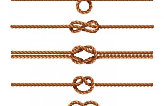 各种绳子打结的麻绳图片免抠矢量图素材