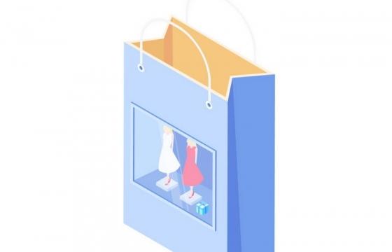 立体风格手提袋购物袋免抠矢量图片素材