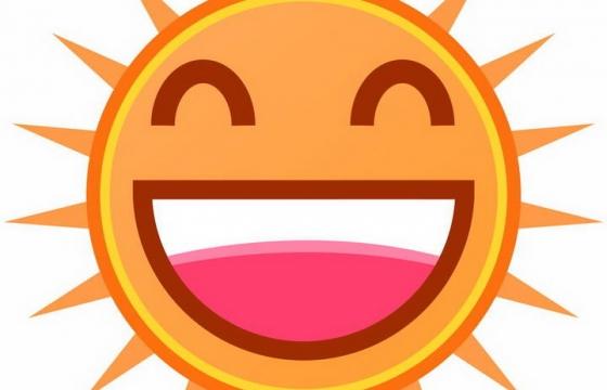 可爱的卡通微笑太阳表情图片免抠素材