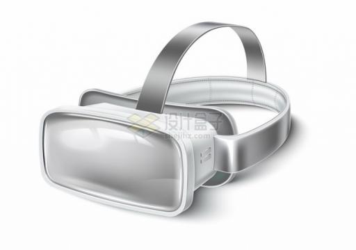 银灰色的VR眼镜虚拟现实技术3D头盔293677png图片素材
