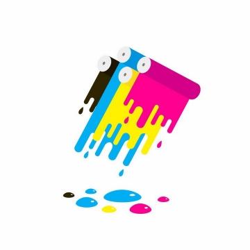 MBE风格CMYK打印机颜色图案png图片免抠eps矢量素材