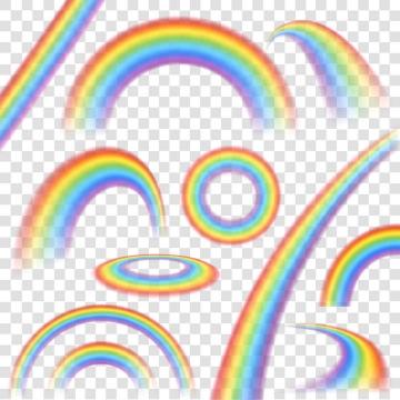 10款各种风格的彩虹图片免抠素材