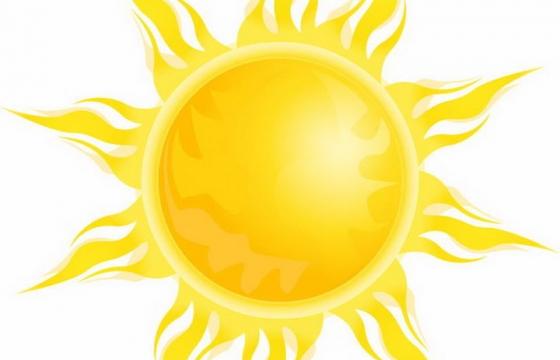 放出黄色火焰的太阳图片免抠素材