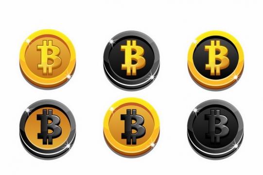 金色黑色风格比特币金币硬币png图片免抠矢量素材