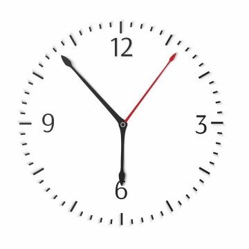 简约风格钟表刻度和时针分针秒针png图片免抠矢量素材