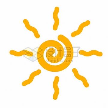 黄色线条太阳510253png图片素材