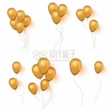 各种橙黄色的彩色气球594546png图片素材