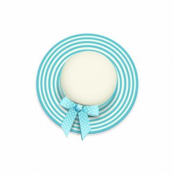 蓝色条纹夏天女性太阳帽遮阳帽619302png图片素材