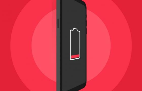 扁平化风格正在充电的智能手机免抠矢量图片素材