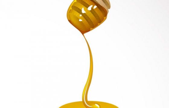 蜂蜜棒上流淌下来的蜂蜜美食免抠矢量图片素材