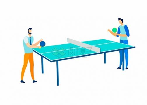 卡通打乒乓球体育运动345459png图片素材