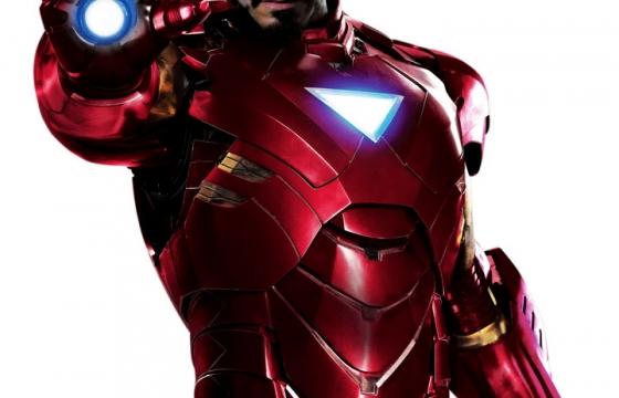 脱去头盔的钢铁侠战甲正面半身照漫威电影超级英雄图片免抠素材