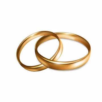 两只金色求婚戒指订婚戒指png图片免抠矢量素材