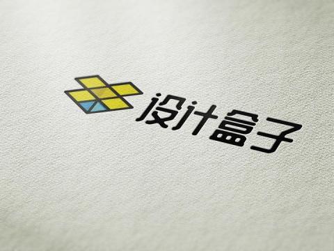 米白色布面墙面上logo文字印刷样机模板图片