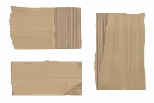 撕碎的瓦楞纸碎纸片png图片免抠矢量素材