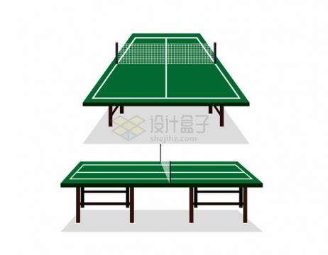 两个角度的乒乓球桌台520323png图片素材