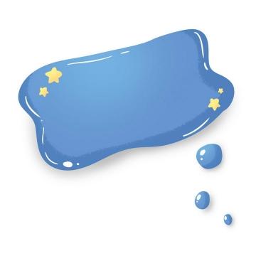 卡通可爱风格蓝色云朵睡梦边框文本框图片免抠素材