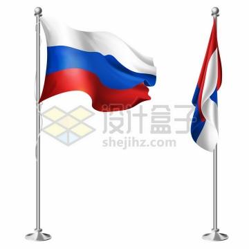 2款俄罗斯国旗金属架png图片素材