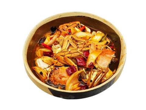 一盘香辣蟹美味美食png图片免抠素材