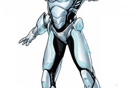 银白色的钢铁侠Mark39双子战甲漫威电影超级英雄图片免抠素材