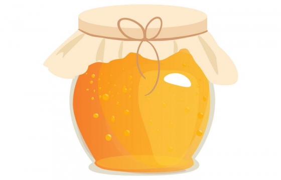 封装起来的圆形玻璃罐中的蜂蜜美食免抠矢量图片素材