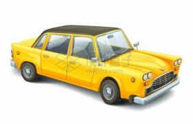 一辆黄色的复古汽车老爷车671293png矢量图片素材