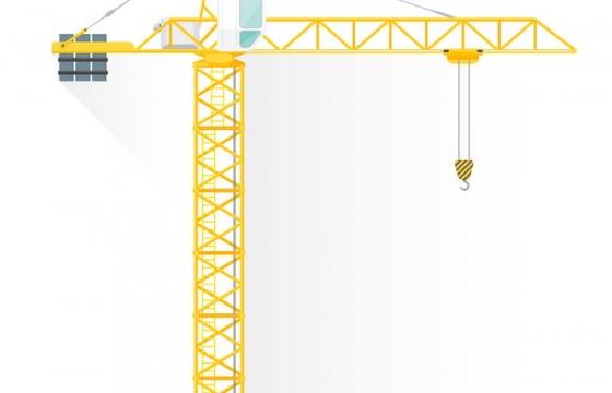建筑工地上的塔吊塔式起重机图片免抠矢量图素材