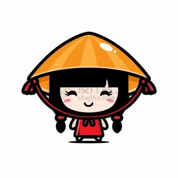 可爱的卡通京族越南女孩png图片免抠矢量素材