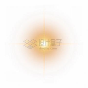 黄色的星光星芒光芒效果png图片素材430178