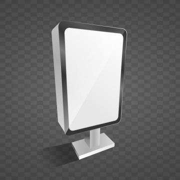 立体空白灯箱广告牌样机图片免抠素材