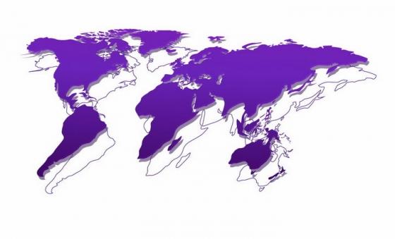 紫色的世界地图和重叠线条地图png图片免抠矢量素材