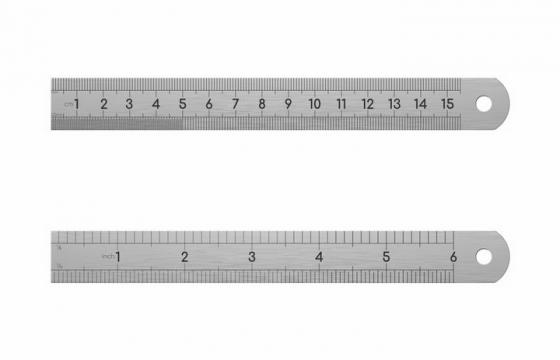 不锈钢钢尺直尺测量工具png图片免抠矢量素材