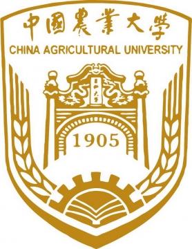 棕色中国农业大学校徽图案图片素材|png