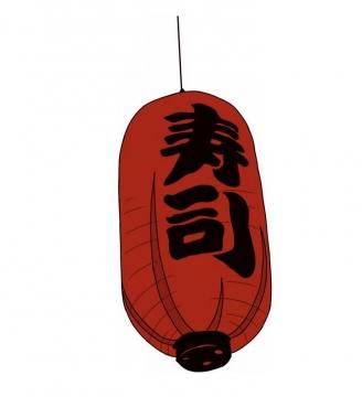 日本传统寿司店日本料理店红色灯笼png图片免抠素材
