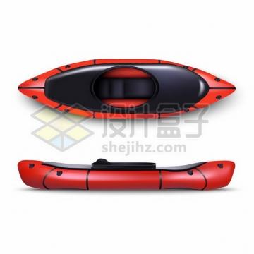 红色黑色的皮划艇橡皮艇小船476240 png图片素材